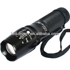10W/ 2500mah aluminum CREE T6 LED rechargeable flashlight with AC charger and hammer, Zoom in/out.