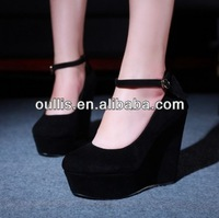 black wedges 2014 fashion lady shoes new sexy shoes CP6390