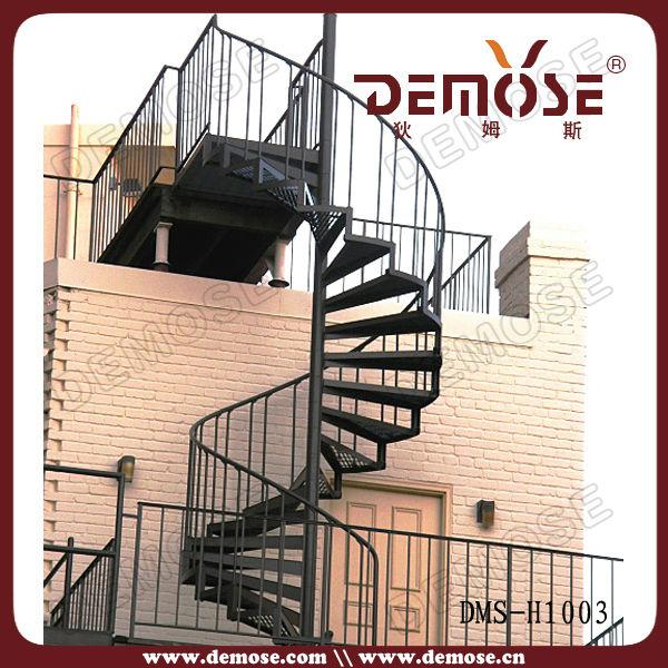 Exterior De Metal Escaleras Con Prefabricada De Metal Barandilla De La Escale