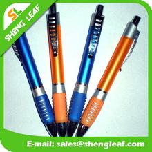 Metallic surface pen writing instruments