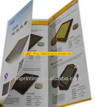 color printing samples leaflet 2 folding