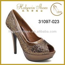 Royal Bronze Heel Bulk Wholesale Shoes High Heels