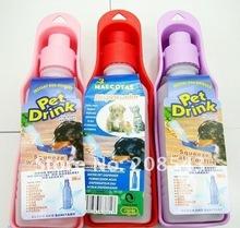 Free Shipping! MOQ: 10pcs/lot,outdoor pet portable water drinking bottle, drinking bowl