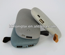 2014 blank case and lable charger for phones & pads in stone model dual output port