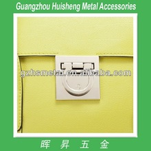 Fashion top quality metal handbag turn lock closures