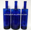 la pintura azul vodka 750ml botella de vidrio