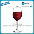 France hot order Customized Logo Wine stemware Custom Measuring marking Line Wine measured Cooking Glass