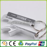 custom promotion aluminum bottle opener key chain (XD-5665)