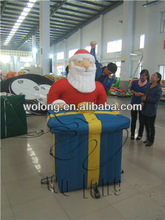 2014 wonderful holiday inflatables, inflatable Santa Claus with box