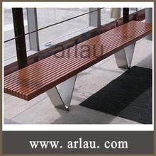 indoor stainless steel wooden bench (Arlau FW199)