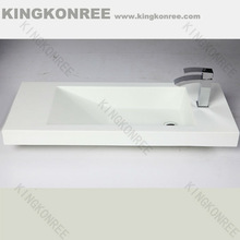 new design wall hung outdoor stone resin/ solid surface sinks