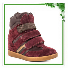 Fashion Design Best Selling 2014 New Style Woman Wedge Luxury Sneakers