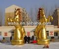 طويل القامة العملاقة 2014 7.5m ذهبية حصان نفخ للدعاية