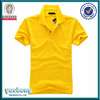 High quality women cotton plain yellow custom polo shirt design