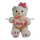 Stuffed teddy bear with heart toys