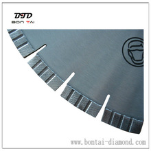 diamond walk behind saw blade for reinforced concrete cutting
