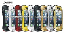 Tempered glass waistline shape metal waterproof case for iphone 4/4s/5/5s/5c
