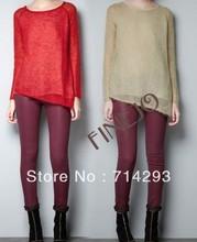 2014 New Fashion Womens' vantage Wool Pullover irregular hem thin knitted sweater long sleeve Elegant knitwear Novelty 16353