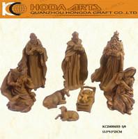 "10"" 8pcs Religious Polyresin Nativity Set Craft"