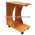 Poker Caddy - Wood Rolling Drink Holder & Table