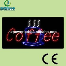 animation acrylic coffee whole sale novelty rectangle signs with led lights