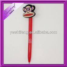 Hot sale soft rubber ballpoint pen with cap