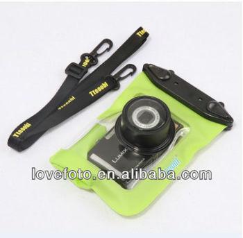 Clear pvc waterproof bag for compact digital cameras