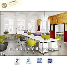 L shape office desk/laminate office desk/melamine furniture
