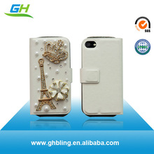 Phone printing hoco leather case for iphone 4