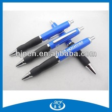 Click Half Metal Pen/ Rubber Grip Metal Pen/ Ball Pen With Metal Clip for Promotional