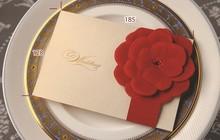 2014 hot sale wedding card & New design invitation card & cutter velvet lace wedding invitation card