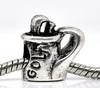 Antique Silver Golf Bag Charm Beads Fit European Bracelet 16x16mm,20 pcs,dorabeads