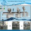 garrafa pet automática pequena escala de engarrafamento de água de processo