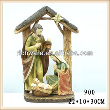 Hot Sale Resin Holy Family Religious Nativity Figures