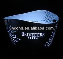 New Design!large led illuminated ice bucket/led ice bucket party cooler/belvedere vodka acrylic ice bucket cooler
