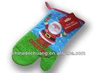2014Hot sale christmas kitchen oven mitten glove