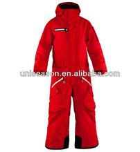 Red woman one piece snow wear