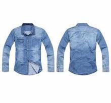 new stylish mens long sleeve shirts/Comfortable 100%washed light blue Linen casual mens long sleeve shirt/2014 Mens Long Sleeve