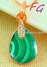 Pd-us-0286 стерлингового серебра ганеш природные малахит кулон, Малахит зеленый цена