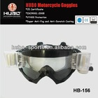 Cool and safety single cylindrical lens anti-fog roll off MX goggles for motocross racing