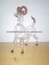 goat glass bottle/750ml glass wine bottles wholesale/glass spirit bottles