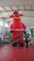 /publicidad promocional de toro inflable modelo de dibujos animados