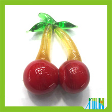 fashion earring decoration glass fruit beads cherry beads