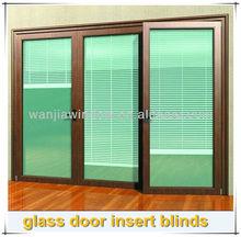 Elegant aluminum sliding glass door insert blinds
