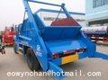Caminhão coletor de lixo, eliminação de resíduos do caminhão