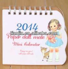 2014 paper doll mate mini calendar