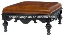 moroccan leather pouf ottoman footstool HDOT0146