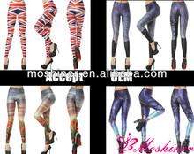Cheap Custom Wholesale Fashion Digital Printed Spandex Pants Pictures Sexy Girl Cheap Hot Pantyhose Leggings Pics