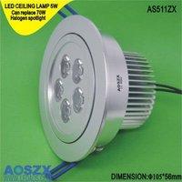 5W LED Ceiling Light energy saving lamp 500LM ushine light green products