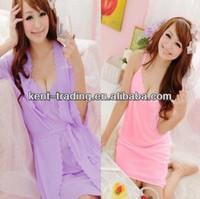 lady hot sexy pajamas women sexy silk nightshirt